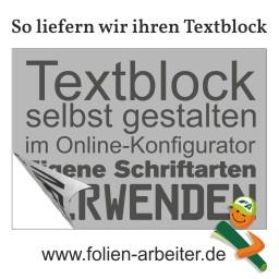 Textblock selbst gestalten