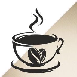 Dampfende Kaffeetasse