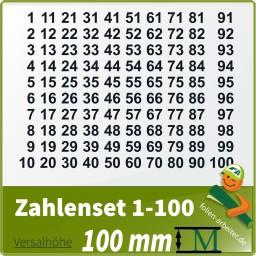 Klebezahlen-Set -1-100 - 100mm