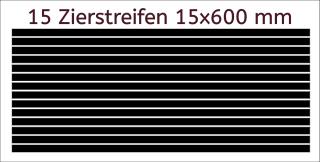 Zierstreifen 15 mm