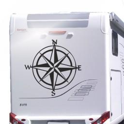 Kompassrose Surwold Aufkleber für Wohnwagen und Wohnmobile