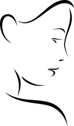 Frauengesicht - Dekoration mit Stil