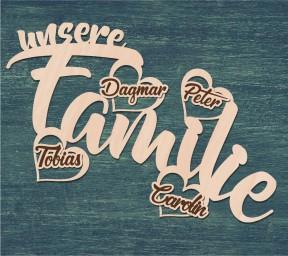 Dekoschild Unsere Familie