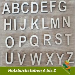 Holzbuchstaben A bis Z 26 Zeichen Set