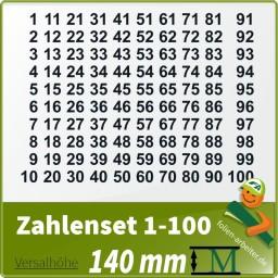 Klebezahlen-Set -1-100 - 140mm