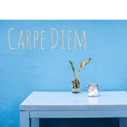 Carpe Diem Deko Buchstaben 3D Buchstaben Wanddekoration