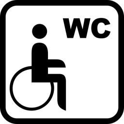 Behinderten  WC Aufkleber Piktogramm