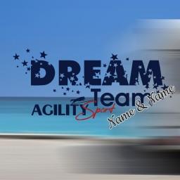 Dream Team Agility Sport Aufkleber