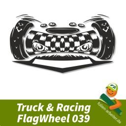 Aufkleber-Sticker Motiv: FlagWheel039, Maße 300x167mm