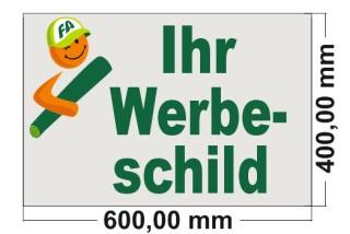 Firmenschild 600 x 400mm