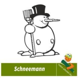 Aufkleber Schneemann Fenster Deko