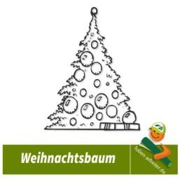 Aufkleber Tannenbaum Weihnachtsbaum Fenster Deko
